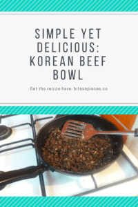 Simple Yet Delicious: Korean Beef Bowl