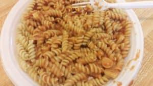 pasta with no vodka vodka sauce on a plate