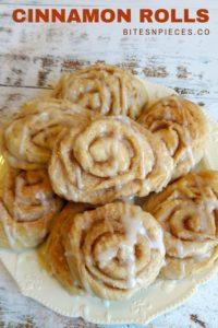 cinnamon rolls Pinterest image.