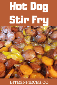 Hot Dog Stir Fry pinterest image