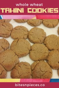 whole wheat tahini cookies pinterest image 2