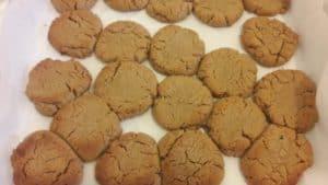 Whole wheat tahini cookies baked