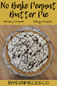 No Bake Peanut Butter Pie [Dairy Free + Egg Free]
