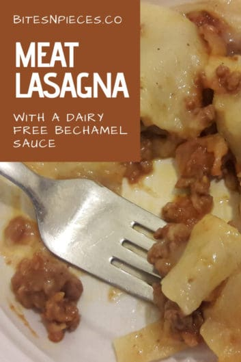 Meat Lasagna (With Dairy-Free Bechamel Sauce)
