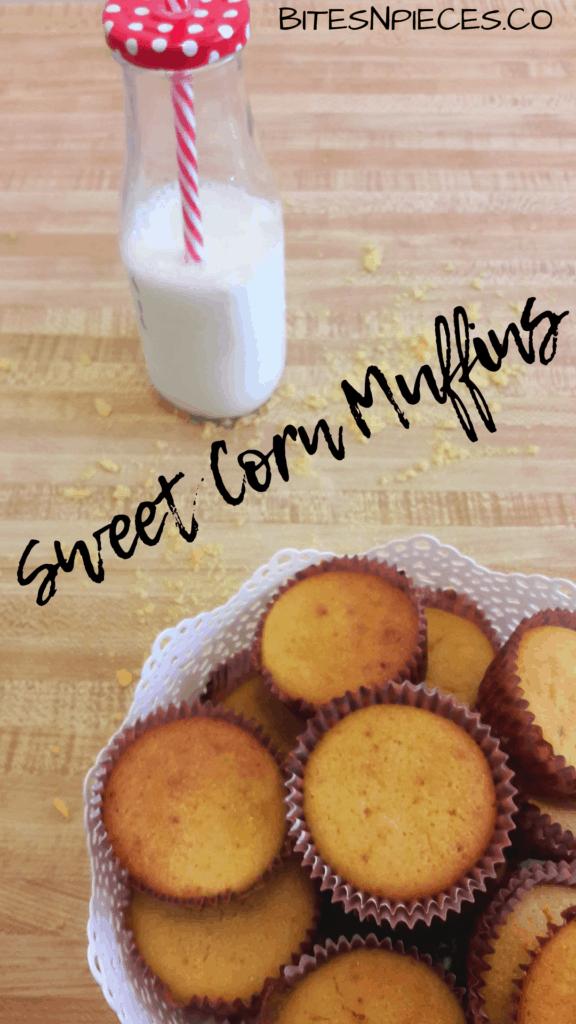 Sweet corn muffins pinterest image