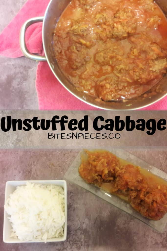 Unstuffed cabbage pinterest image 1