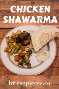Chicken shawarma pinterest image 1.
