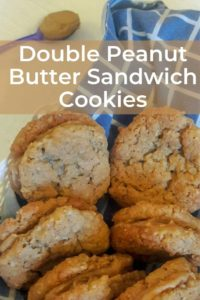 Double peanut butter sandwich cookies pinterest image 1
