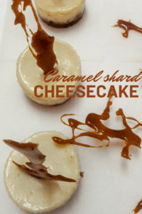 Caramel cheesecake pinterest image 1.