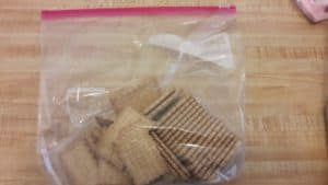 Tea biscuits in a Ziploc bag.