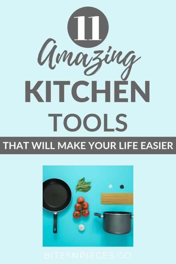 kitchen tools that make life easier pinterest image.
