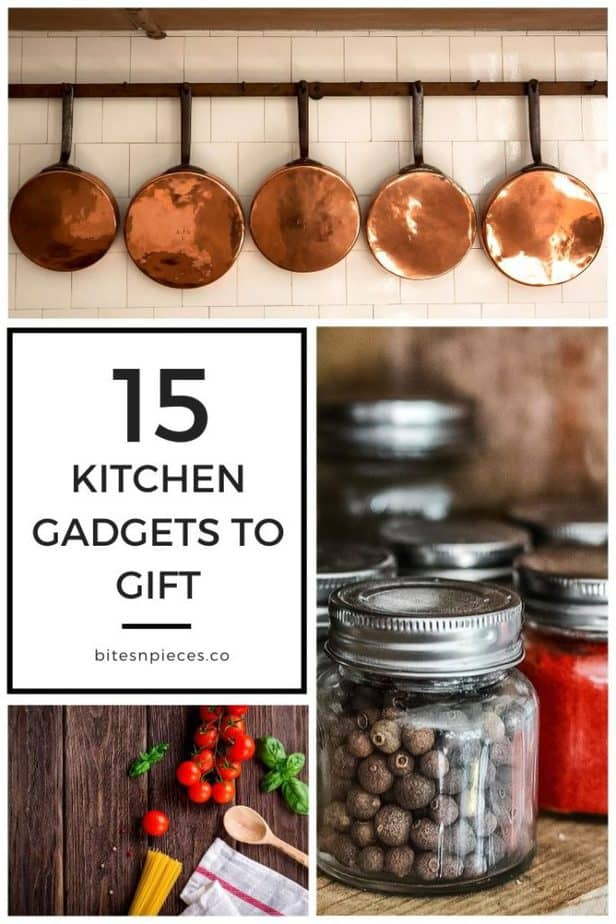 15 kitchen gadgets to gift pinterest image.