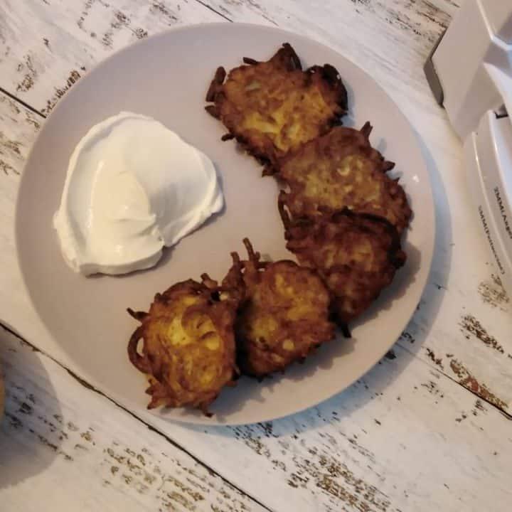 Spiralizer Potato Latkes