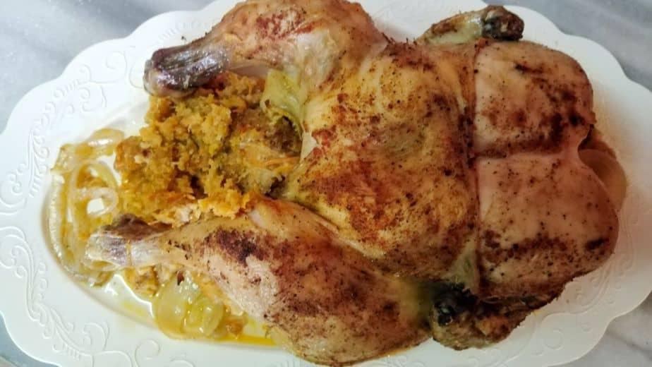 Stuffed Chicken {Roasted Stuffed Whole Chicken}