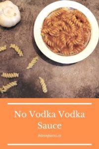 """""""No vodka vodka sauce"""" Pinterest image."""