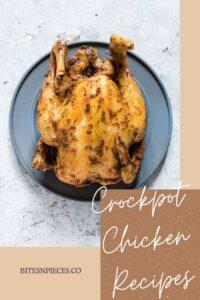 Crockpot chicken recipes Pinterest image 1.